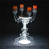 Cheap CH (22) home floor standing acrylic candle holders for sale
