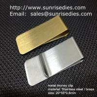 Cheap Classic cash money clip credit card holder, custom brushed brass cash money clips for sale
