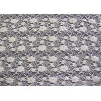 Cheap Ecological Standard White Brushed Lace Fabric For Wedding Dress , Embroidered for sale