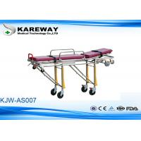 Cheap Backrest Tilting Emergency Folding Stretcher Trolley Ambulance Stretcher With Two Safe Belts for sale