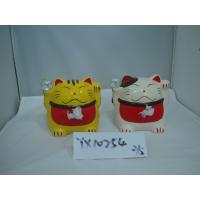 China Japan Style Ceramic Fortune Cat Coin Bank on sale