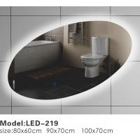 Cheap Oblique Oval Touch LED Bathroom Mirror , LED Backlit Vanity Mirror Optional for sale