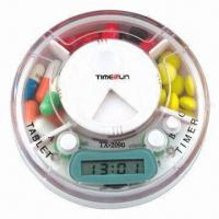 Cheap Pillbox Timer, 3 Compartments with Time and Alarm for sale