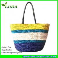 Cheap Colorful Lady Cornhusk Straw Bags for sale