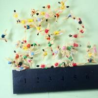 Colorful  Architectural Scale Model People Painting Swimming Figures 1.8cm 1/100 For Building Model Layout