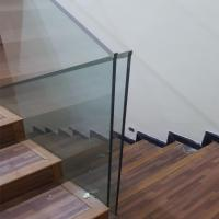 Quality Residential interior 12mm Clear Tempered Safety Glass Aluminum Railing Handrail wholesale