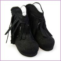 China cotton 18 inch doll shoes black ladies boot shoes supplier on sale