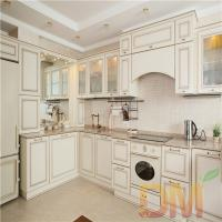 Buy cheap Solid Wood Shaker Style Dark Kitchen Cabinet Project from wholesalers