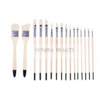 Cheap Artist Professional Body Paint Brushes Set With Carrying Case 16Pcs Watercolor Oil Acrylic Painting Brushes for sale