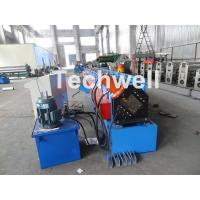 Cheap Metal Stud And Track Roll Forming Machine , Sheet Metal Roll Former For Roof Truss for sale
