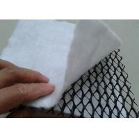 Cheap HDPE 3D Composite Geonet / Geocomposite Drain Width 1 - 4m with white geotextile for sale