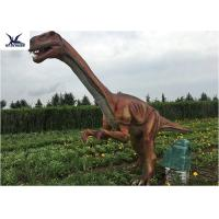 Cheap Outside Zoo Park Decorative Realistic Dinosaur Statues Water And Smoke Spraying for sale