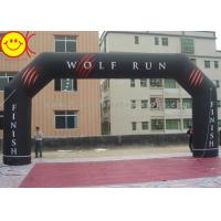 Cheap Angle Custom Black inflatable entrance arch Permanent Banner For Events for sale