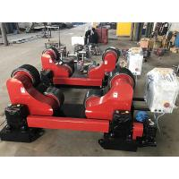 Cheap Remote Hand Control 20T Self Aligning Tank Turning Rolls / Pipe Rollers For Welding for sale