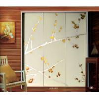 Cheap Contemporary Decorative Laminated Glass Doors Interior For Wardrobe Door for sale