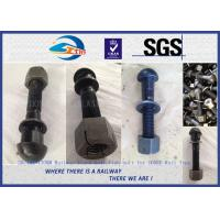1'' * 130mm Railway Track Bolts , Fish Bolts With Plain Oiled Treatment