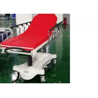 Cheap Hydraulic Luxurious Emergency Patient Trolley 4 Pcs 6 Inch Central Locking Castors for sale