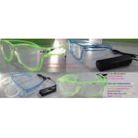 China El Wire Plastic Diffraction Glasses With LED Lighting For Christmas Festival on sale