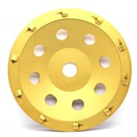 Cheap 5& 7 PCD Diamond grinding Wheel with quarter size PCD segments For Concrete Floor Coatings Removing for sale