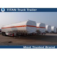 Cheap 3 Axles 45000 liters 5 compartments fuel tanker trailer for oil transportation for sale
