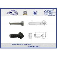 Quality Railroad Fastener Qualified Railway Bolt with washer / heavy square nuts wholesale