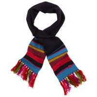 Cheap Multi Coloured Kids Cute Knitted Scarves Blank Woven Logo Available 20*130-1cm for sale
