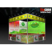 Cheap Triangle Aluminum Frame Custom Trade Show Booth With Wooden Display Counters for sale