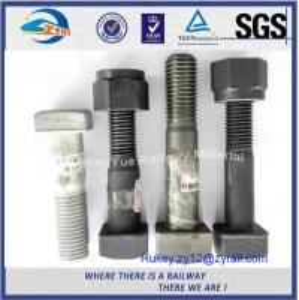 Cheap Q235 Carbon Steel 6.8 8.8 Railway Bolt Track Bolt Nut With Plain / HGD for sale