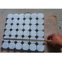 Cheap White Carrara Octagon Natural Stone Mosaic Tile 2 X 2 High Density , Low Water Absorption for sale