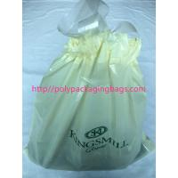 Cheap Recyclable Hotel Laundry Drawstring Plastic Bags With LDPE Material for sale