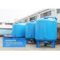 Cheap Professional Carbon Steel Sand Filter Water Treatment With 8mm Cap Thickness for sale