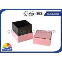 Cheap Hard Cover Cardboard / Kraft Paper Jewelry Boxes , Pink Luxury Small Jewelry Box for sale