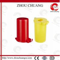 China ZC-M31 Polystyrene Plastic Gas Cylinder Lockout, One Padlock Can Be Applied on sale