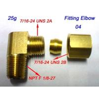 Cheap Fitting,Elbow,1/4Tube Compression brass x1/8-27 Male Pipe for sale