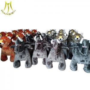 China Hansel shopping mall battery operated plush toys stuffed animals on wheels on sale