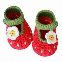 China Hand Crocheted Baby Shoes on sale