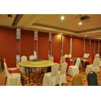 Cheap Bare Finish Folding Partition Walls , Acoustic Movable Partition For  Wedding Facility for sale