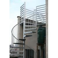 Cheap Duplex use spiral staircase with stainless steel railing design for sale