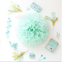 Cheap Paper Flower Balls Tissue Paper Pom Poms For  Birthday/Wedding/Party Decorations for sale