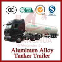 Cheap Light Tare Weight 3 Axles 40000 Liters Aluminum Alloy Crude Oil Tanker Trailers for sale In Truck Semi Trailer for sale