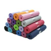 Cheap Wholesale factory OEM gym equipment 6mm single double color thickened eco friendly yoga mat tpe for sale