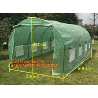 China WATER PROOF UV COATING REINFORCED PE HYDROPONIC GREENHOUSE, PE WOVEN OUTER DOOR, Polytunnel Mini Tunnels Walk in Greenho on sale