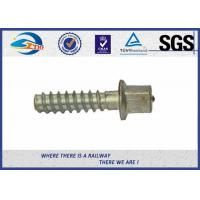 Cheap Electric Zinc Plated 5.6 Grade Railway Sleeper Screws DIN Standard For Steel Rail for sale