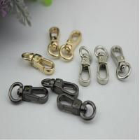China Unique design 3 color zinc alloy small 10 mm round eye bolt snap hooks with high polishing on sale