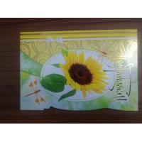 Cheap Promotional Beautiful Die Cut Flower Series Cards Printing   for sale