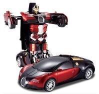 Cheap Transformers 4 battle robot electric acousto-optic toy remote control car Bugatti for sale