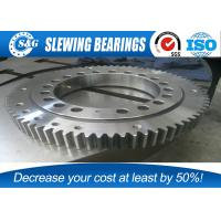Cheap Low Noise Excavator Turntable Bearing , Large Diameter Ring Style Turntables Slewing Bearing wholesale