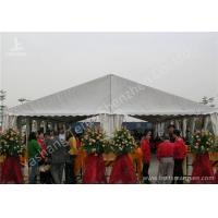 Cheap White Ultraviolet Proof Center Gable Pole Custom Event Tents / Outdoor White Event Tents wholesale