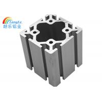 Cheap 8mm Slot Silver Aluminium Frame Profile For Elevator / Assembly Line 50-6000mm Length for sale