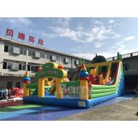 Cheap Commercial Peacock Inflatable Playground For Kids / Inflatable Trampoline Theme Park for sale